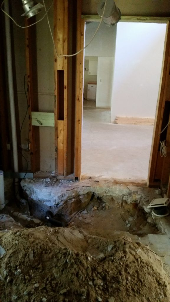 Work has started on the remodel of the main public restroom in the future Visitor Center.