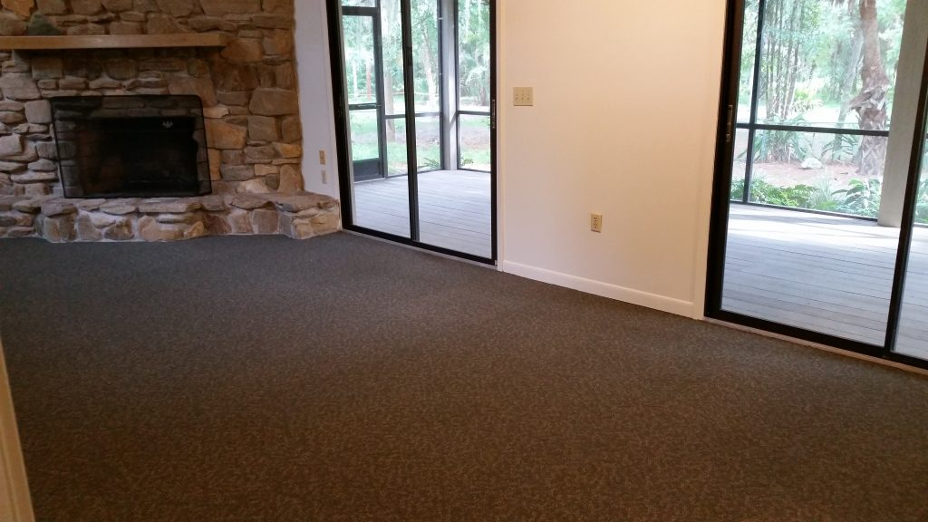 New carpet has been installed in the great room of the Visitor Center.
