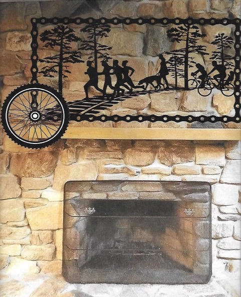 Fireplace Metal Artwork Project